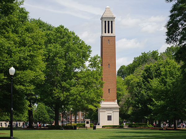 Denny Chimes on the Quad.